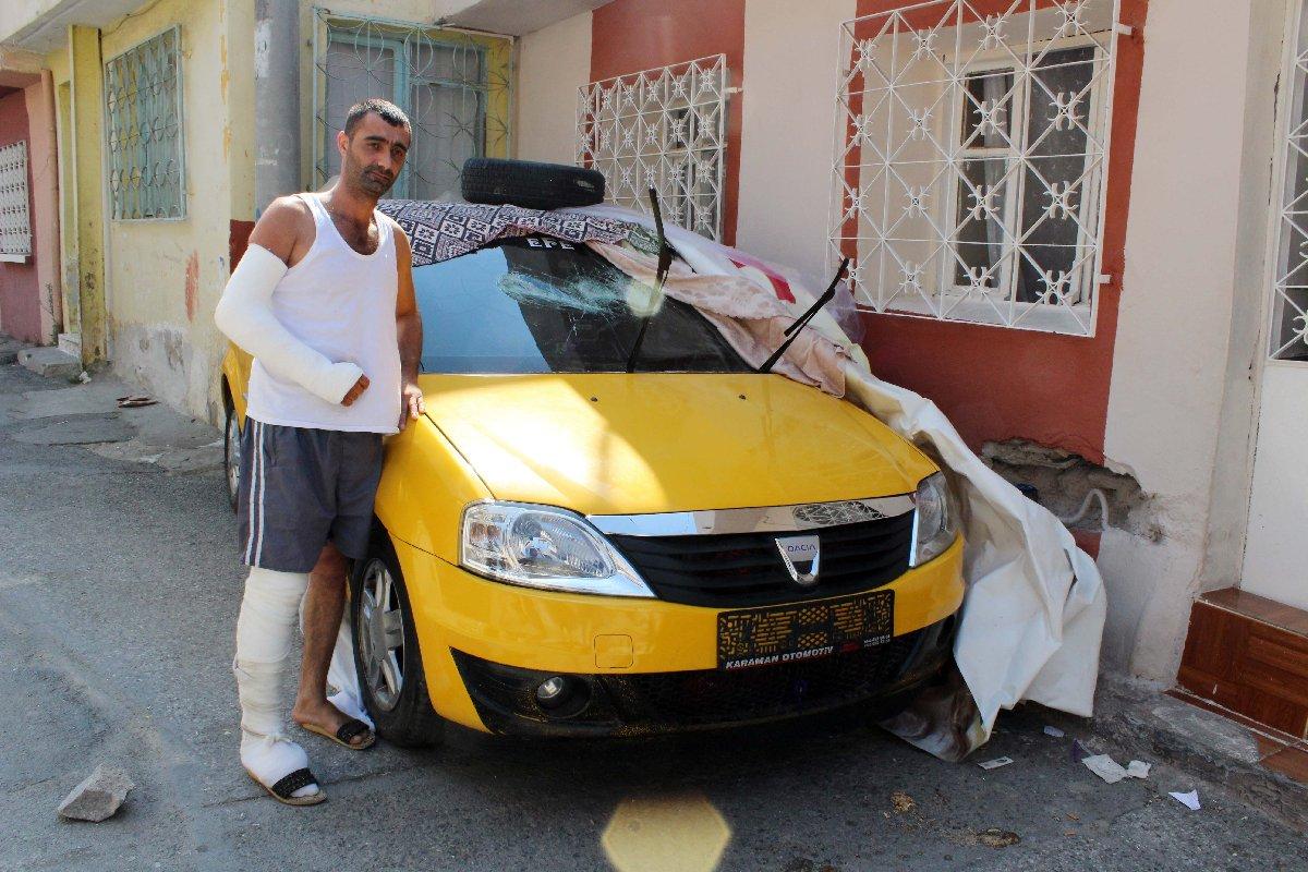 Talihsiz taksiciye mahalleliden öldüresiye dayak
