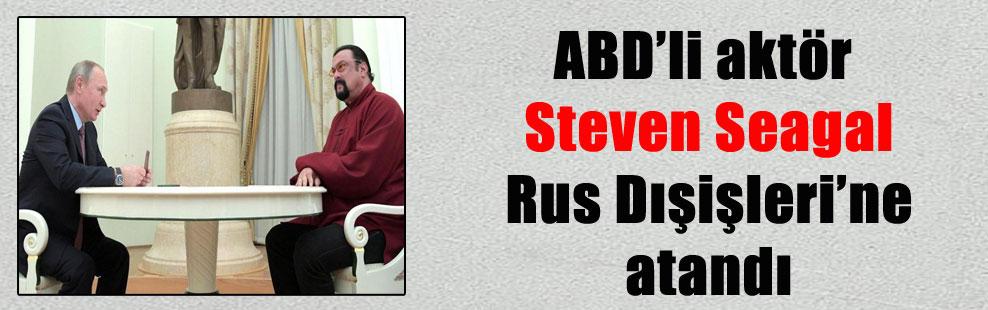ABD'li aktör Steven Seagal Rus Dışişleri'ne atandı