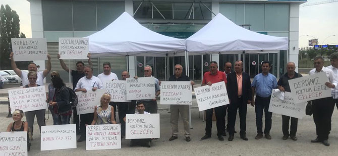 CHP Sakarya Kurultay Delegeleri de Genel Merkez önüne geldiler…