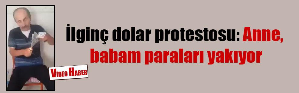 İlginç dolar protestosu: Anne, babam paraları yakıyor