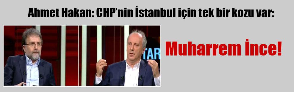 Ahmet Hakan: CHP'nin İstanbul için tek bir kozu var: Muharrem İnce…