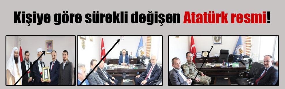 Kişiye göre sürekli değişen Atatürk resmi!