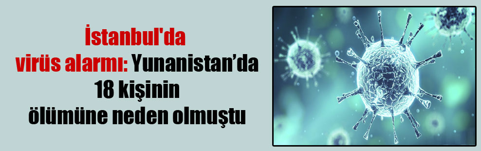 İstanbul'da virüs alarmı: Yunanistan'da 18 kişinin ölümüne neden olmuştu