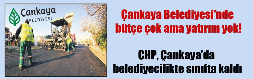 Çankaya Belediyesi'nde bütçe çok ama yatırım yok!