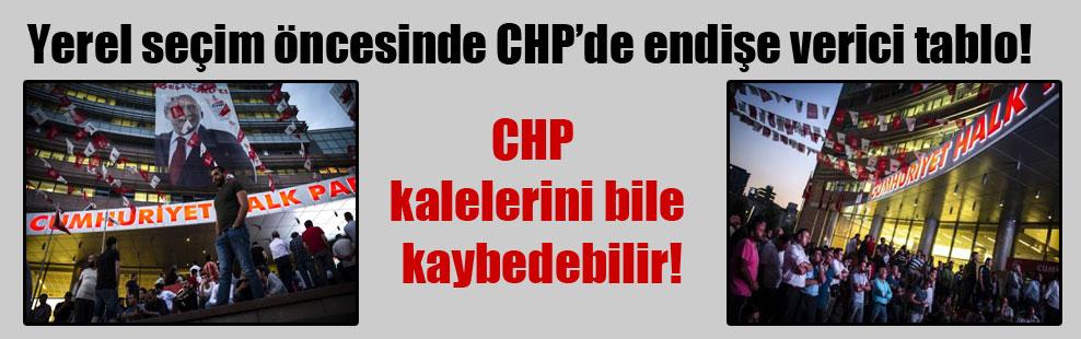 Yerel seçim öncesinde CHP'de endişe verici tablo! CHP kalelerini bile kaybedebilir!