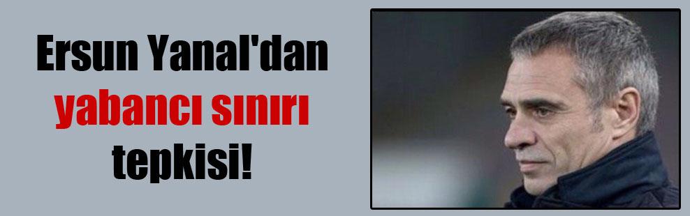 Ersun Yanal'dan yabancı sınırı tepkisi!