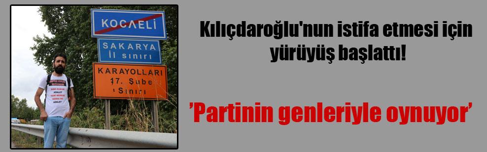 Kılıçdaroğlu'nun istifa etmesi için yürüyüş başlattı!