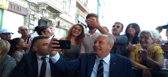 İnce'yi İzmir'de vatandaşlar ve partililer tezahüratla karşıladı!