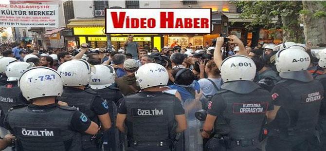 Kadıköy'de 3. Havalimanı eylemine polis müdahalesi