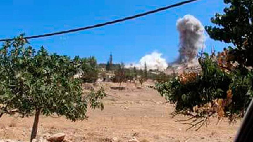 Rus savaş uçaklarının sesi, Hatay'ın sınır köylerinde duyuldu