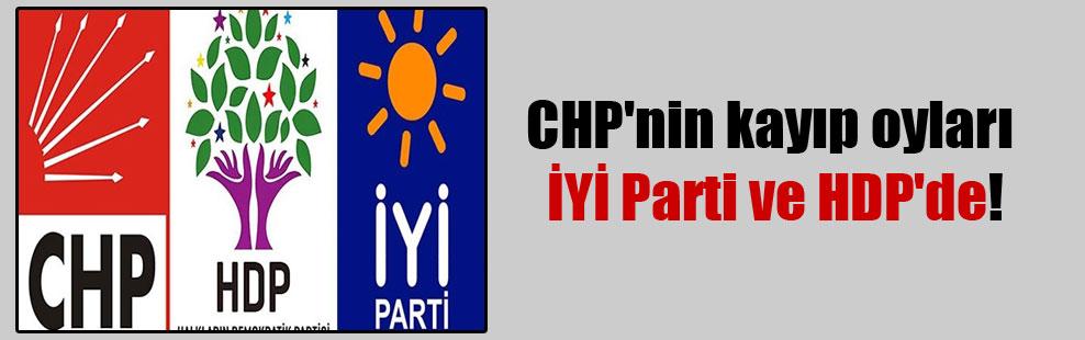 CHP'nin kayıp oyları İYİ Parti ve HDP'de!