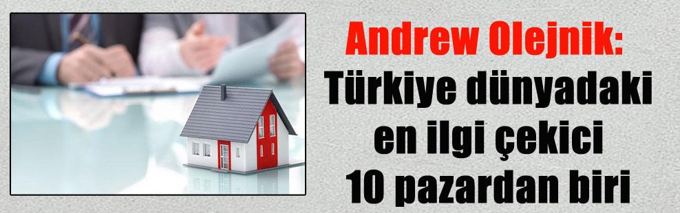Andrew Olejnik: Türkiye dünyadaki en ilgi çekici 10 pazardan biri