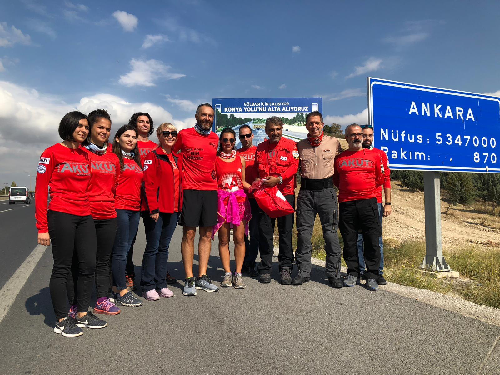 İyilik Peşinde koşusu 41. gününde Ankara'da