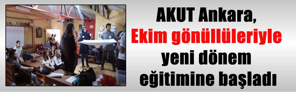 AKUT Ankara, Ekim gönüllüleriyle yeni dönem eğitimine başladı