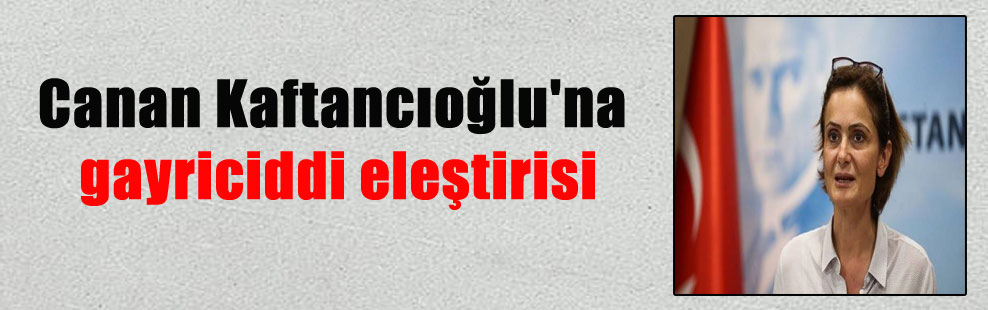 Canan Kaftancıoğlu'na gayriciddi eleştirisi