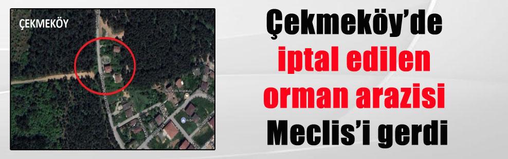 Çekmeköy'de iptal edilen orman arazisi Meclis'i gerdi