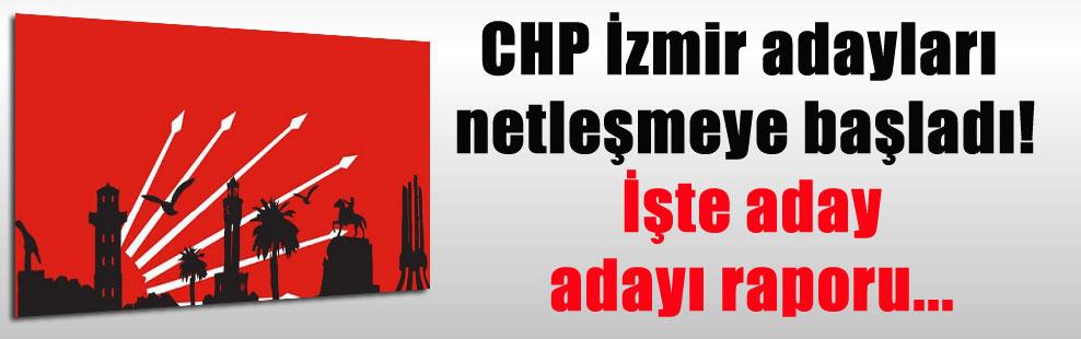 CHP İzmir adayları netleşmeye başladı! İşte aday adayı raporu…