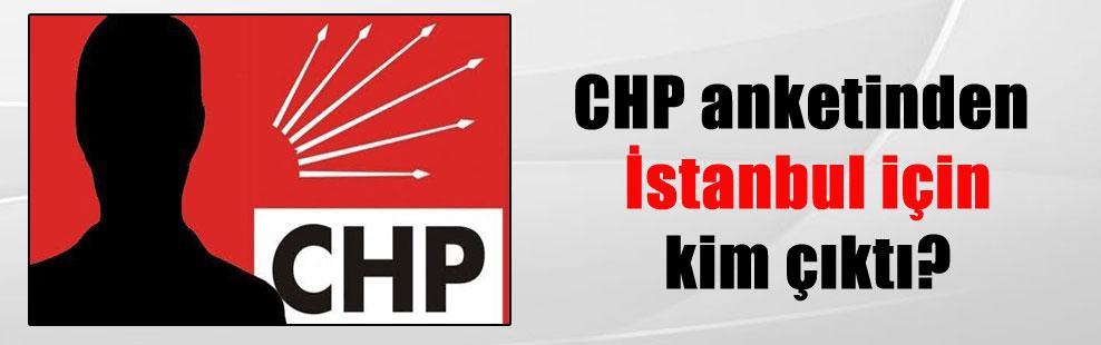 CHP anketinden İstanbul için kim çıktı?