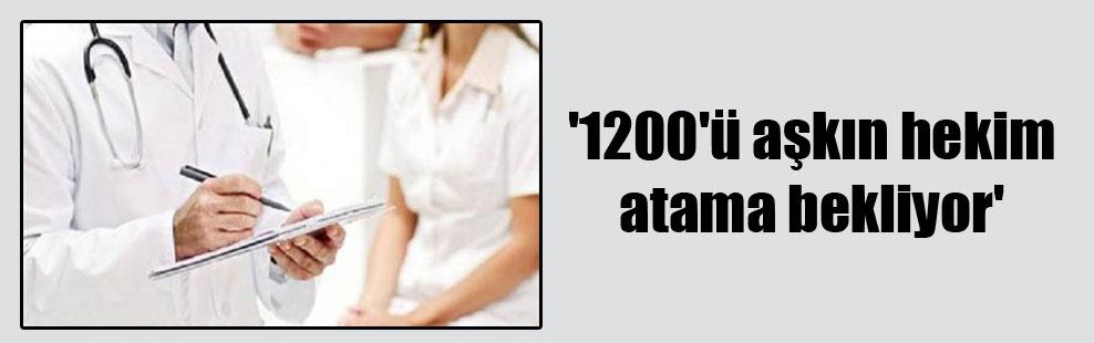 '1200'ü aşkın hekim atama bekliyor'