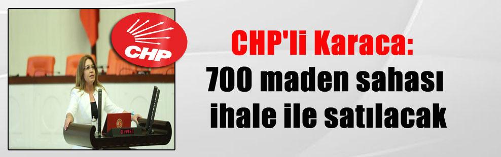 CHP'li Karaca: 700 maden sahası ihale ile satılacak