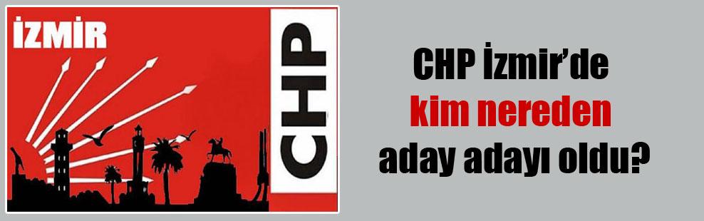 CHP İzmir'de kim nereden aday adayı oldu?
