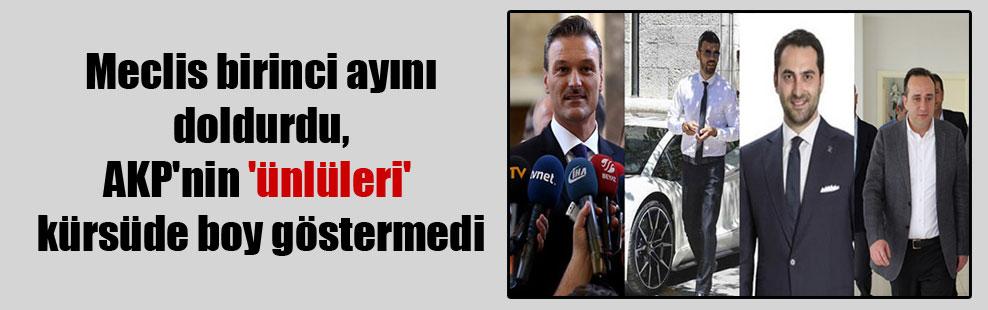 Meclis birinci ayını doldurdu, AKP'nin 'ünlüleri' kürsüde boy göstermedi