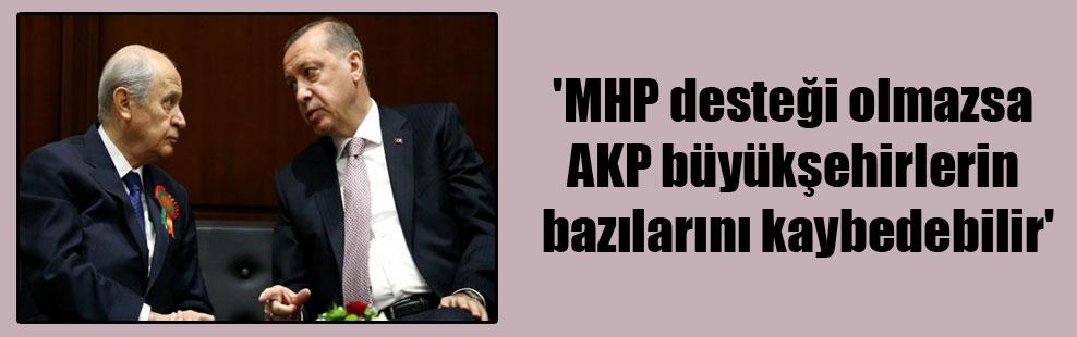 'MHP desteği olmazsa AKP büyükşehirlerin bazılarını kaybedebilir'
