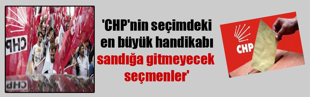 'CHP'nin seçimdeki en büyük handikabı sandığa gitmeyecek seçmenler'