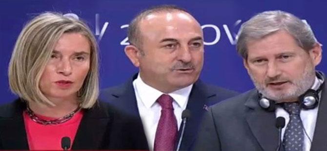 AB temsilcileri ile Çavuşoğlu arasındaki gergin diyalog