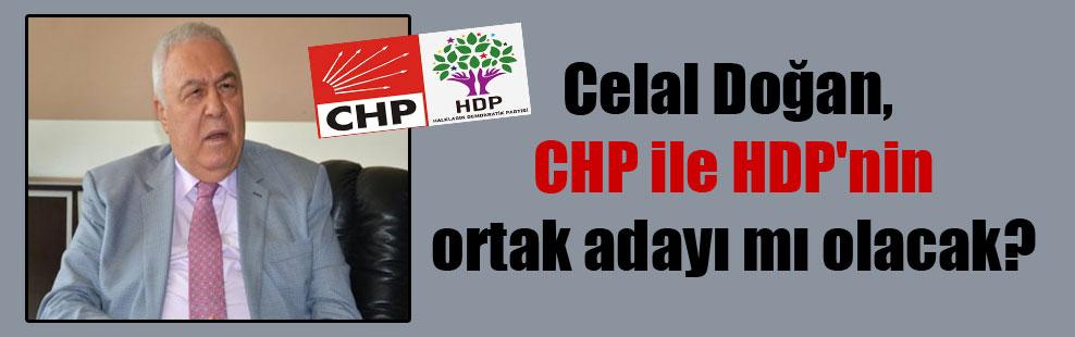 Celal Doğan, CHP ile HDP'nin ortak adayı mı olacak?