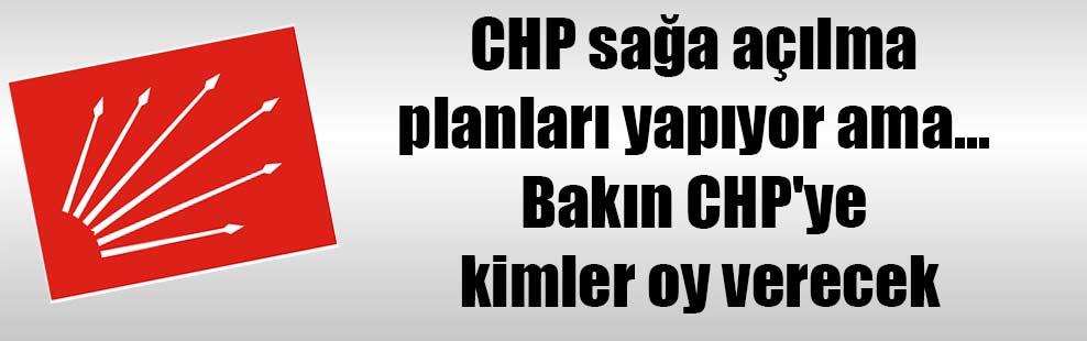 CHP sağa açılma planları yapıyor ama… Bakın CHP'ye kimler oy verecek