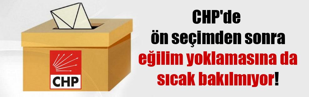 CHP'de ön seçimden sonra eğilim yoklamasına da sıcak bakılmıyor!