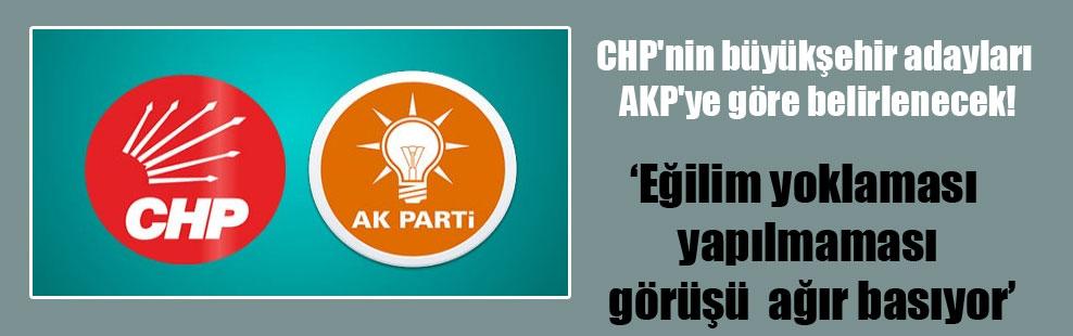 CHP'nin büyükşehir adayları AKP'ye göre belirlenecek!