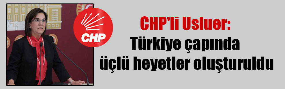 CHP'li Usluer: Türkiye çapında üçlü heyetler oluşturuldu