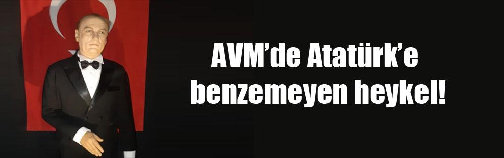 AVMde Atatürke benzemeyen heykel: Mustafa Cengize daha çok benziyor 77