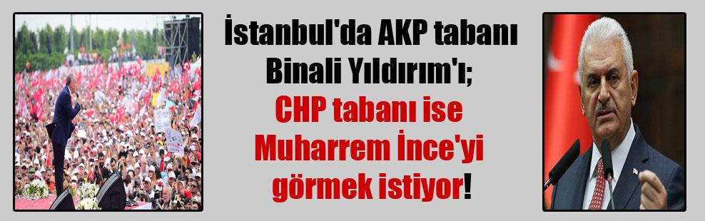 İstanbul'da AKP tabanı Binali Yıldırım'ı; CHP tabanı ise Muharrem İnce'yi görmek istiyor!