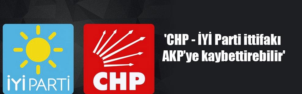 'CHP – İYİ Parti ittifakı AKP'ye kaybettirebilir'