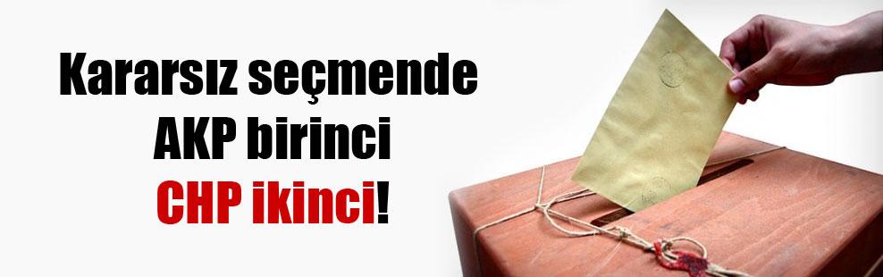 Kararsız seçmende AKP birinci CHP ikinci!