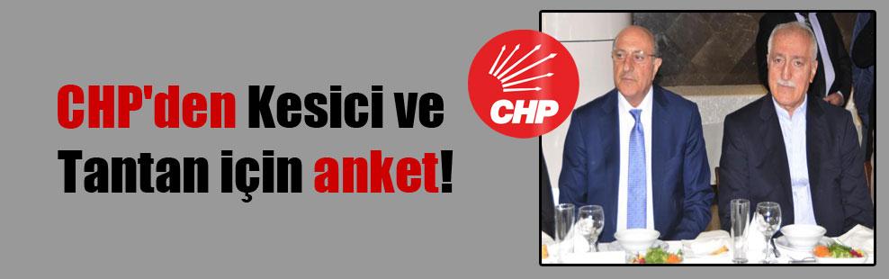 CHP'den Kesici ve Tantan için anket!