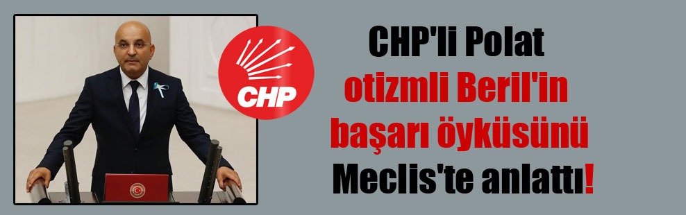 CHP'li Polat otizmli Beril'in başarı öyküsünü Meclis'te anlattı!