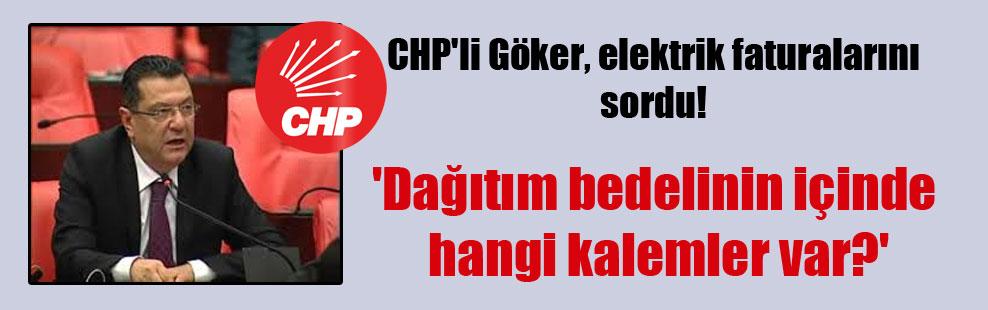 CHP'li Göker, elektrik faturalarını sordu! 'Dağıtım bedelinin içinde hangi kalemler var?'