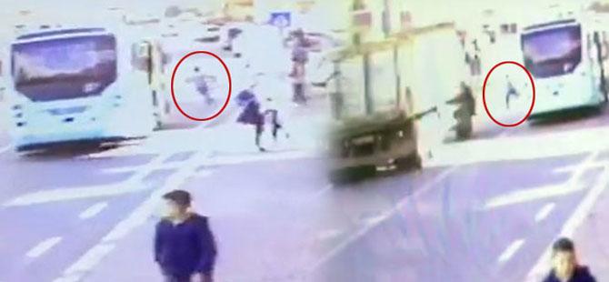 Minibüs ile yarışan çocuğa kamyon çarptı