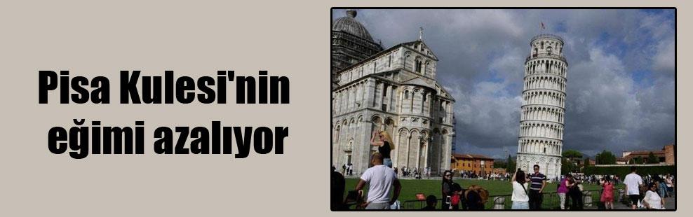 Pisa Kulesi'nin eğimi azalıyor