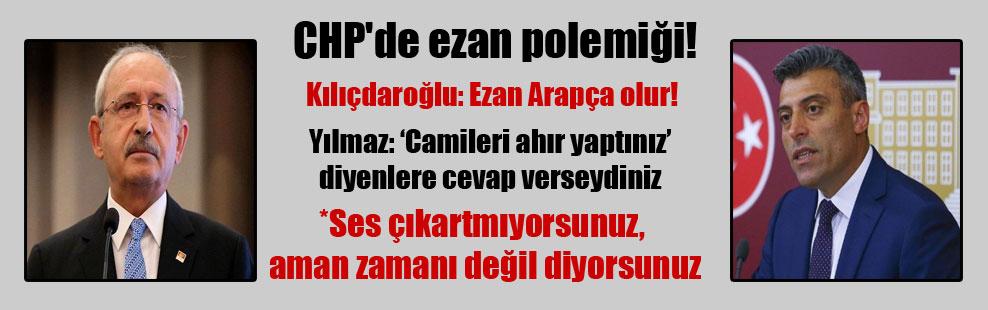 CHP'de ezan polemiği!