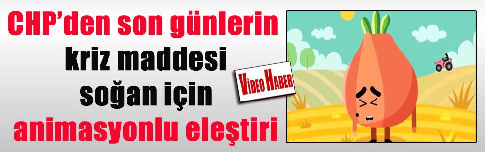 CHP'den son günlerin kriz maddesi soğan için animasyonlu eleştiri