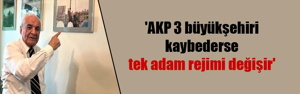 'AKP 3 büyükşehiri kaybederse tek adam rejimi değişir'