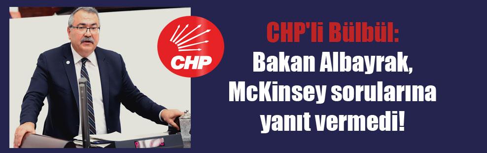 CHP'li Bülbül: Bakan Albayrak, McKinsey sorularına yanıt vermedi!