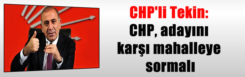 CHP'li Tekin: CHP, adayını karşı mahalleye sormalı