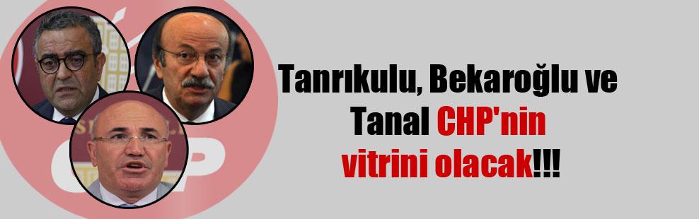 Tanrıkulu, Bekaroğlu ve Tanal CHP'nin vitrini olacak!!!