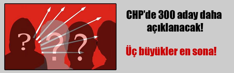 CHP'de 300 aday daha açıklanacak!
